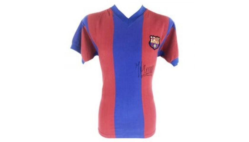 Cruyff's FC Barcelona Signed Retro Shirt