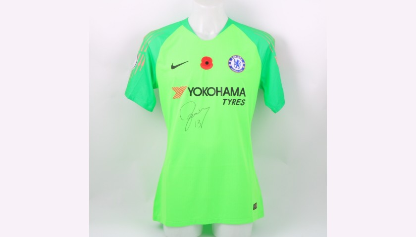 Caballero's Chelsea Match-worn and Signed Poppy Shirt