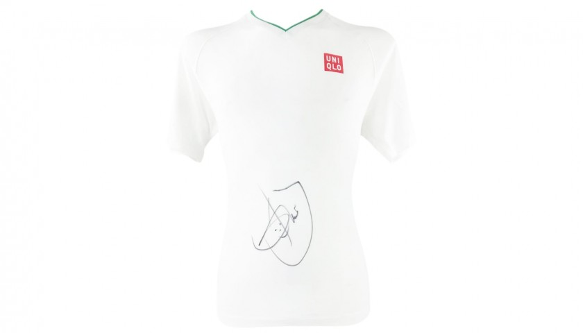 Uniqlo Shirt Signed by Novak Djokovic
