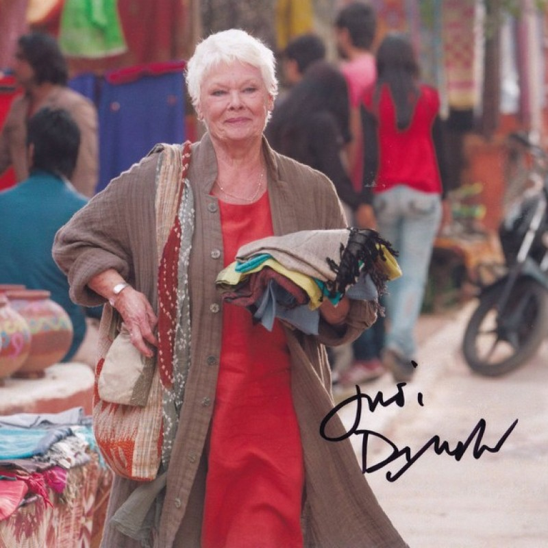 """""""Marigold Hotel"""" - Photograph Signed by Judi Dench"""