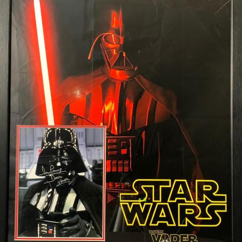 Darth Vader Signed and Framed Star Wars Display
