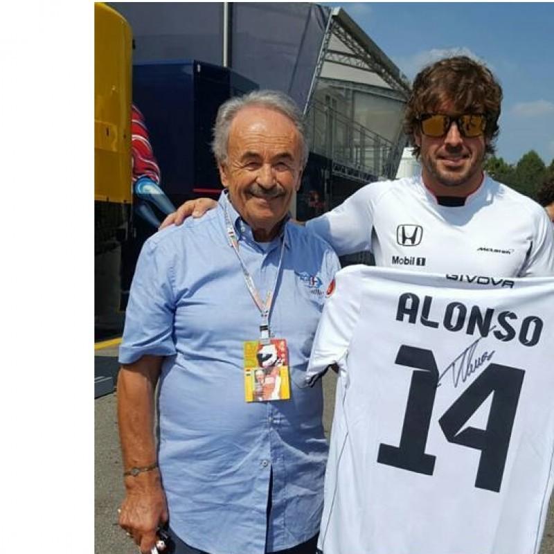 """Fernando Alonso """"Nazionale Piloti"""" football kit - Signed"""