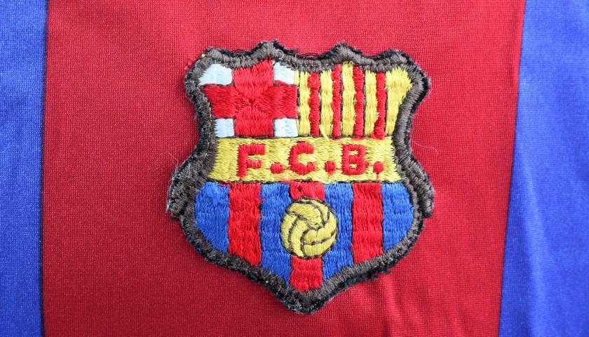 Maradona's Barcelona Match-Issue/Worn 1983/84 Season Signed Shirt