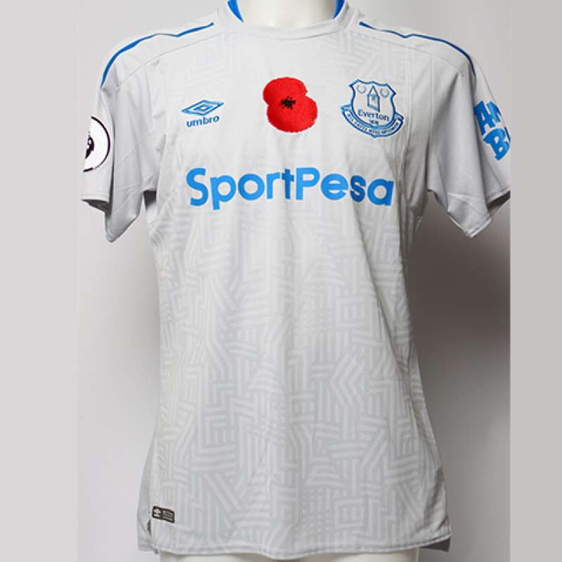 Issued Poppy Away Game Shirt Signed by Everton FC's James McCarthy