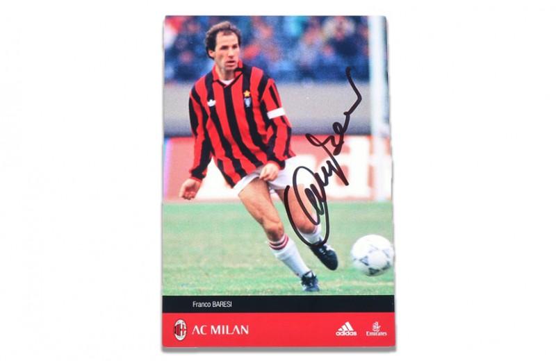 Signed Baresi Soccer Card