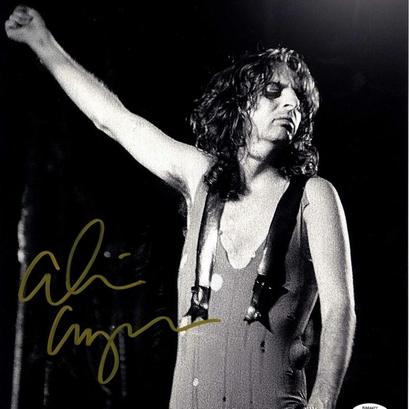 Fotografia di Alice Cooper con autografo