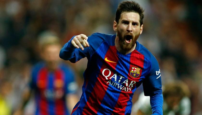 07af1a872cd Signed Lionel Messi 2016 17 Jersey - CharityStars