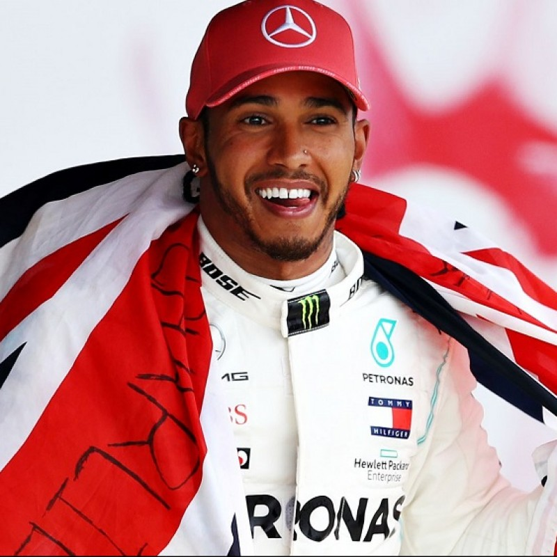 Official Mercedes Cap - Signed by Hamilton