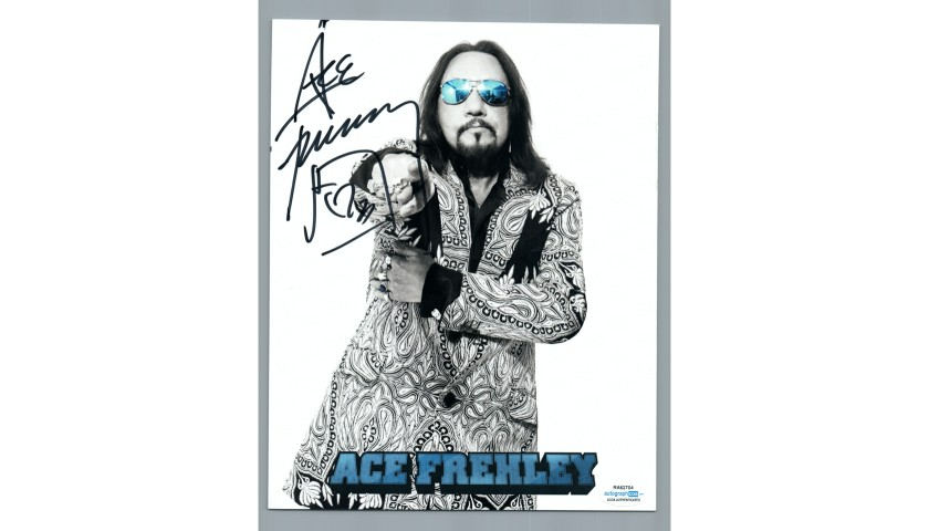 """Ace Frehley """"KISS"""" Hand Signed Photograph"""