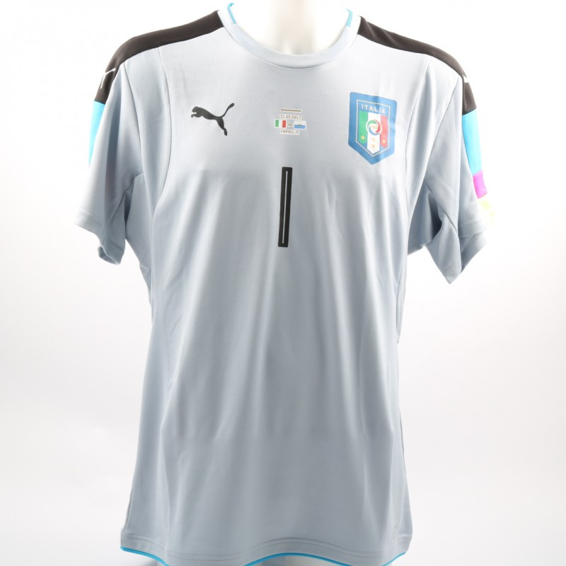 Scuffet's Match-Issue/Worn Italy-San Marino Friendly 2017 Shirt