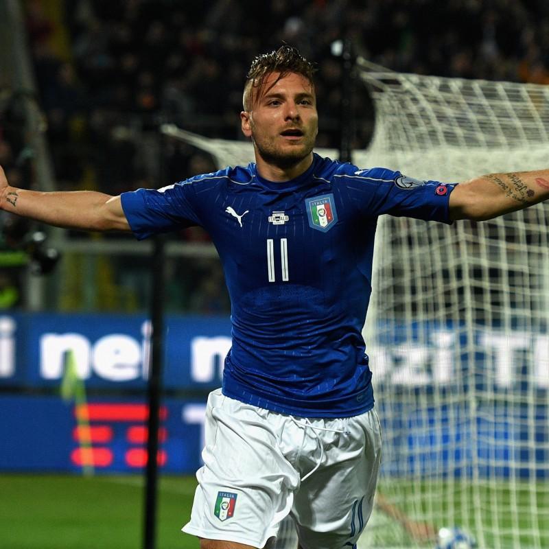 Immobile's Match Shirt, Italy-Albania 2017