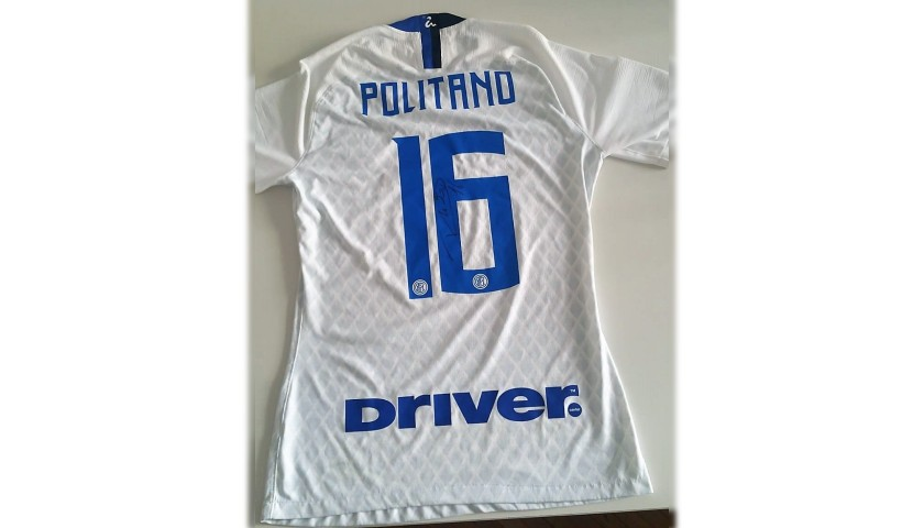 Politano's Inter Worn and Signed Shirt, 2018/19