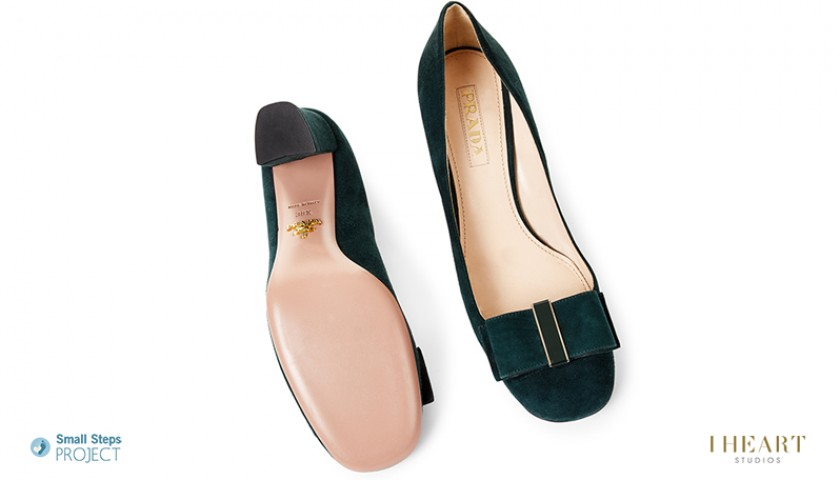 Helena Christensen Signed Shoes