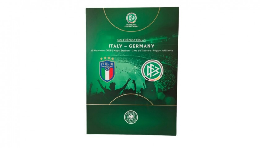 Italy-Germany U21 Poster in Plastic Display Case
