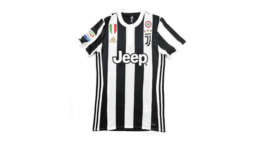 92d79e751 Dybala's Match-Issued/Worn 2017/18 Juventus Shirt – Signed - CharityStars
