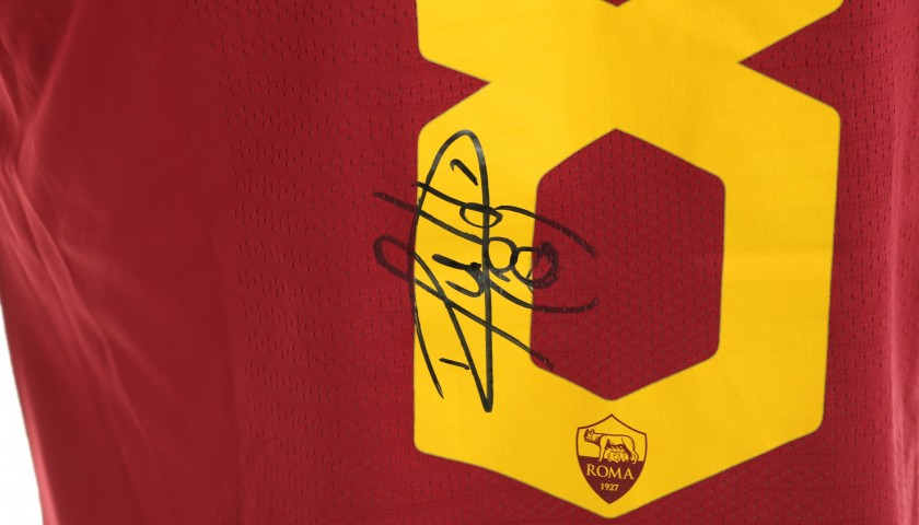 Perotti's Worn and Signed Shirt, Roma-SPAL 2019