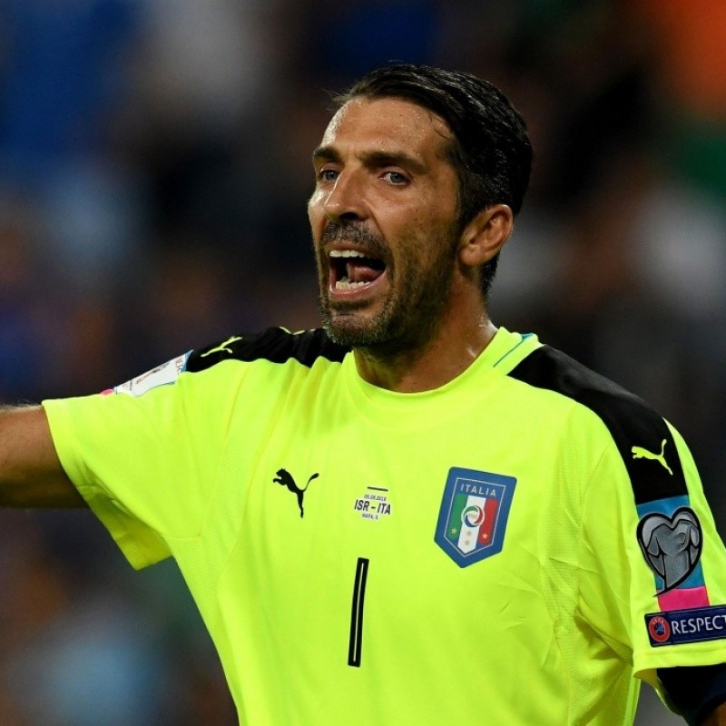 Buffon's Match-Issue/Worn Shirt Israel-Italy 2016