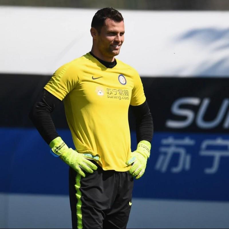 Padelli's Reusch Worn and Signed Goalkeeper's Gloves