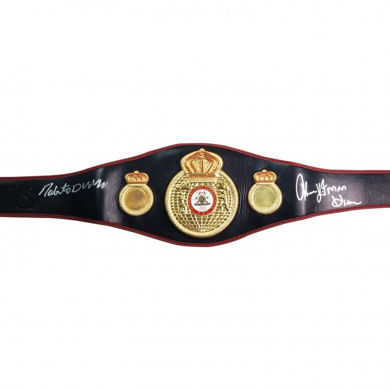 Championship Belt Hand Signed by Roberto Duran & Thomas  Hearns