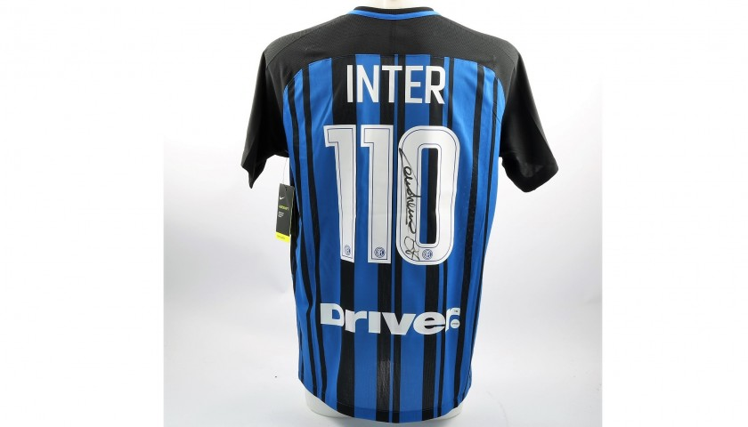 Authentic Inter 110th Anniversary Shirt, Signed by Candreva