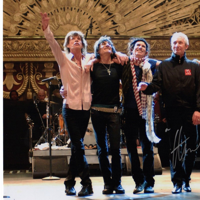 Rolling stones photo signed by Charlie Watts