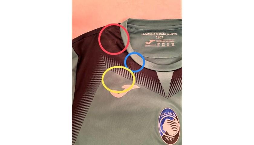 Gollini's Worn Shirt, Napoli-Atalanta 2019
