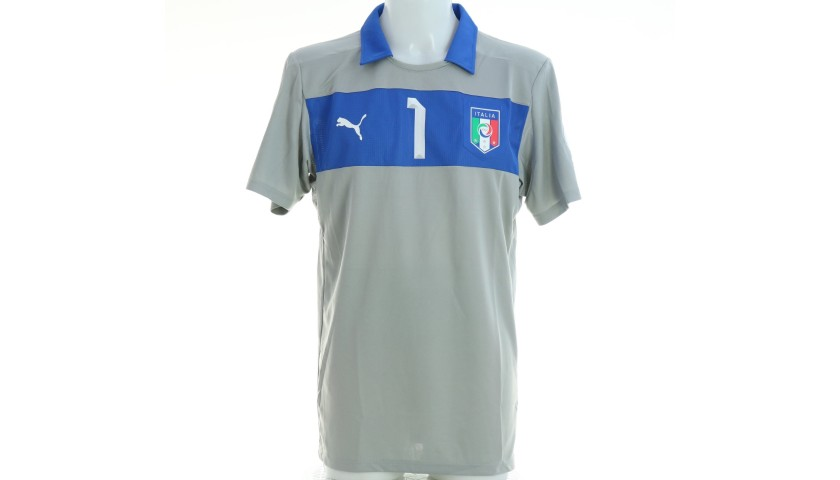 Buffon's Italy Match Shirt, World Cup Qualifiers 2014 - Signed