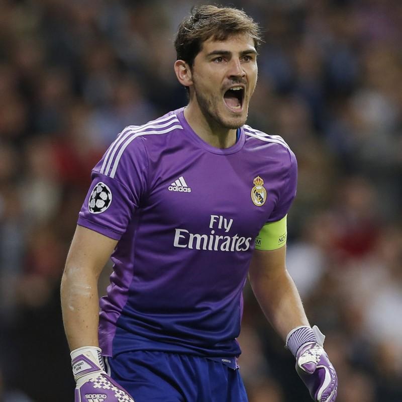 fe1b628c0 Casillas  Match-Issue Worn Shirt and Sweatshirt