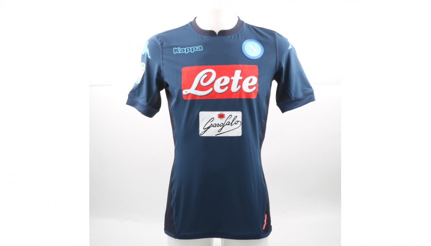 Hamsik's Match-Issued Napoli Shirt, Autographed 2017/18