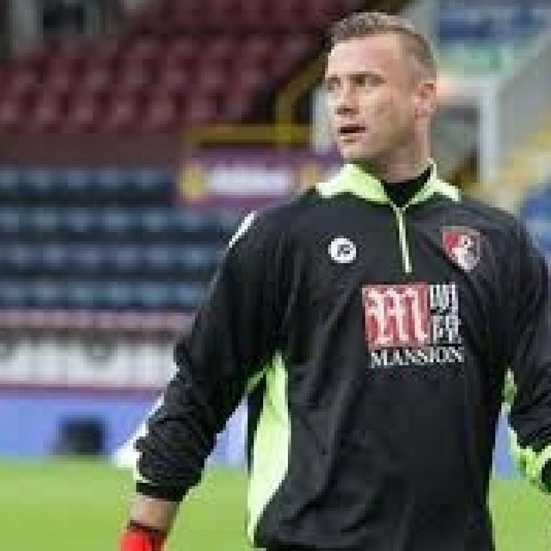 Boruc's AFC Bournemouth Worn and Signed Poppy Shirt