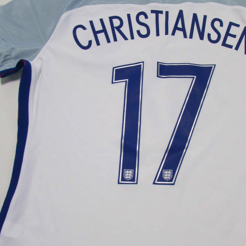 Isobel Christiansen's Match Issued and Signed England 2016 Shirt