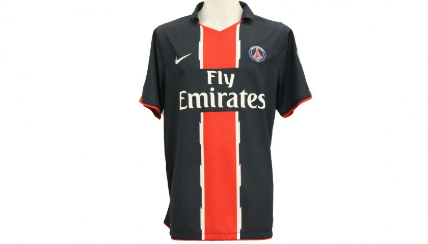 Hoarau's PSG Match-Issue/Worn Shirt, 2010/11