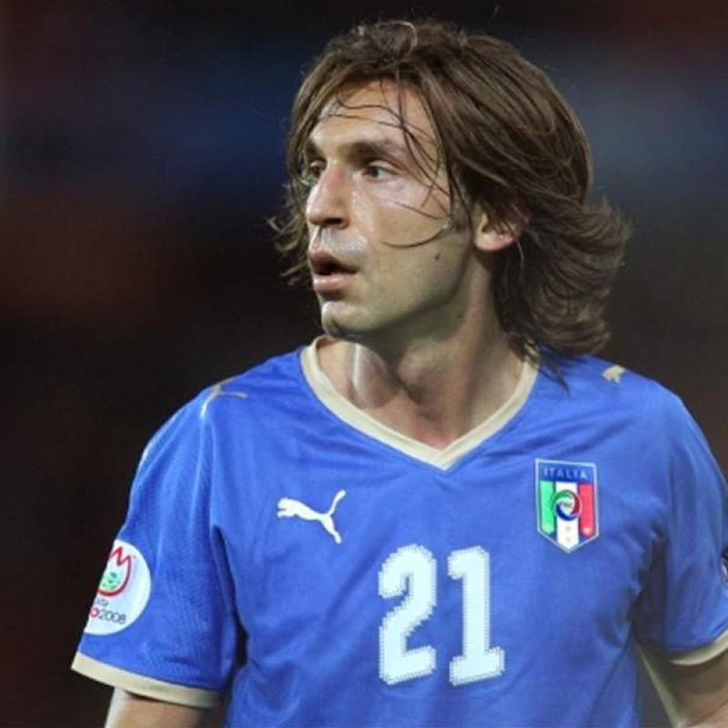 Pirlo's Italy Match Shirt, Euro 2008