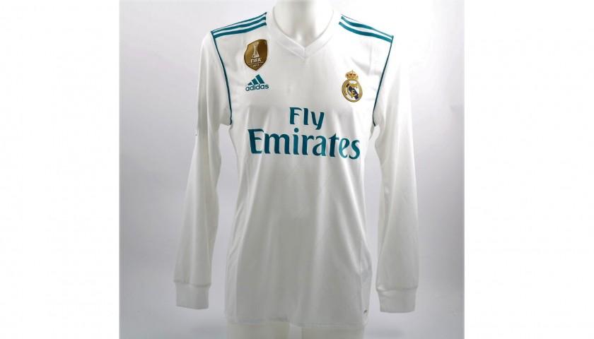 c278dfe0333 Kroos  Real Madrid Match-Issue Worn Liga 2017 18 Shirt - CharityStars