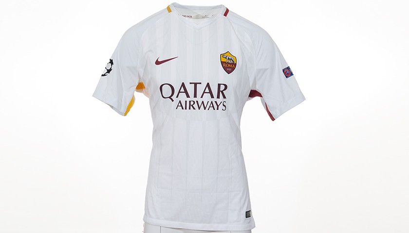 Juan Jesus' Worn Shirt, Liverpool-Roma CL 17/18