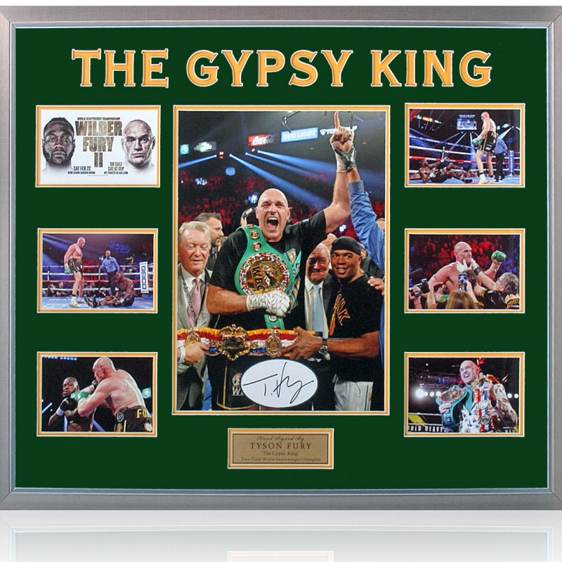 Wilder Vs Fury II Hand Signed Photograph by Tyson Fury