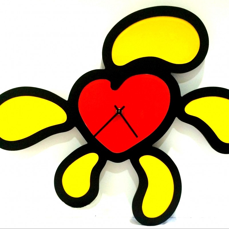 "Wall Clock ""Flowers...Every Hour To Love"" by Moreno Marzaroli"