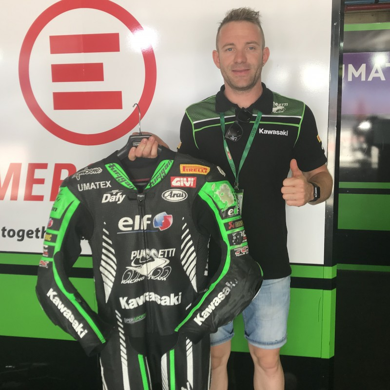 Racing Suit Worn and Signed by Lucas Mahias at Portimao
