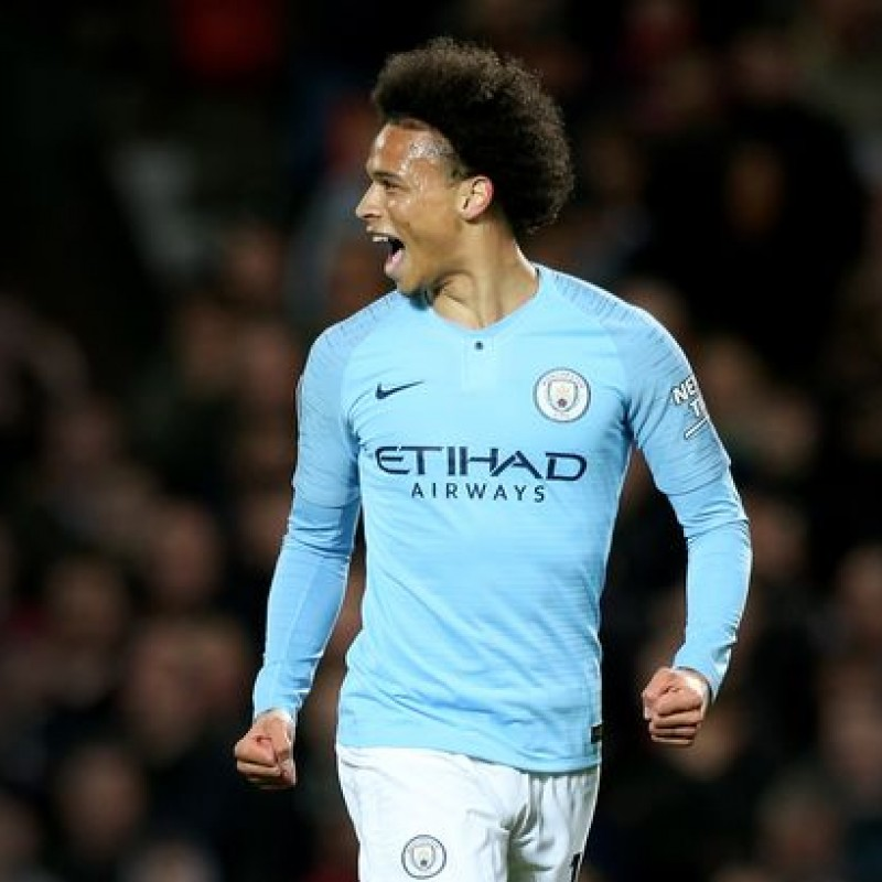 Sané's Manchester City Match White Shorts, Premier League 2018/19