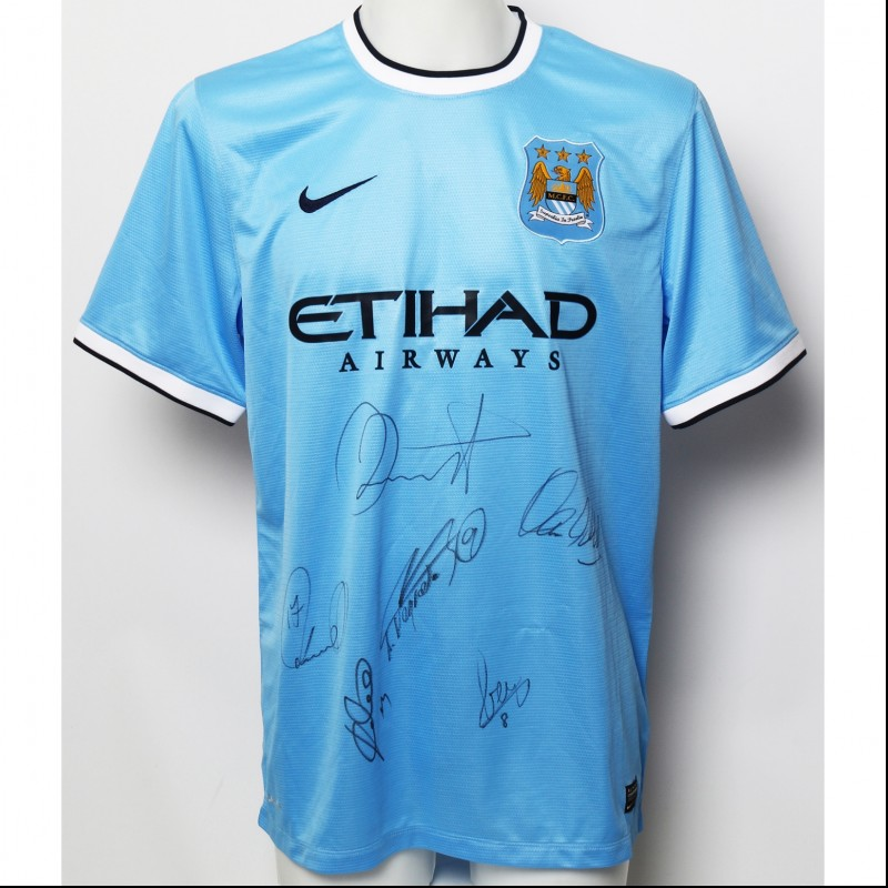 Manchester City FC 2013|14 Home Shirt Signed by the Champions of 2013