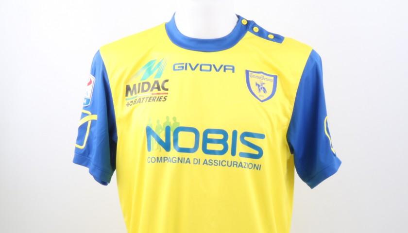 Castro Chievo Match Worn Shirt, Serie A 2016/17
