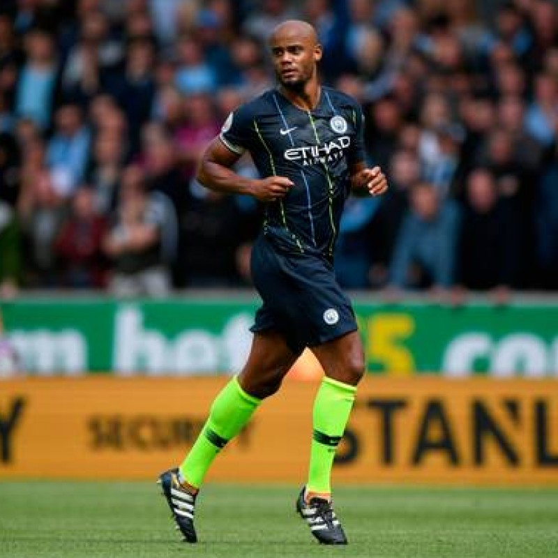 Kompany's Manchester City Match Navy/Volt Shorts, Premier League 2018/19