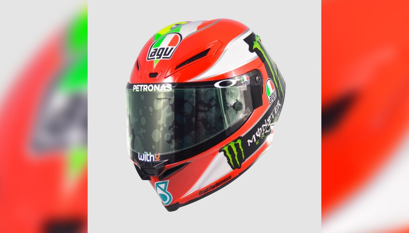 Gianni Rolando Signed Special Helmet Worn by Franco Morbidelli