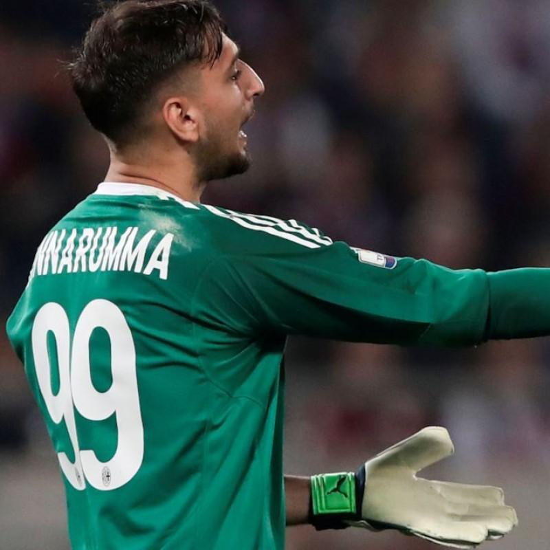 Donnarumma's Match-Worn Milan Gloves, 2018 TIM Cup Final