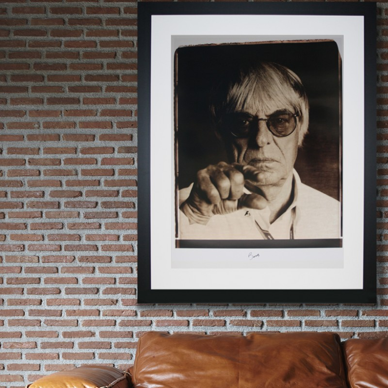 F1 Bernie Giant Signed Polaroid Portrait