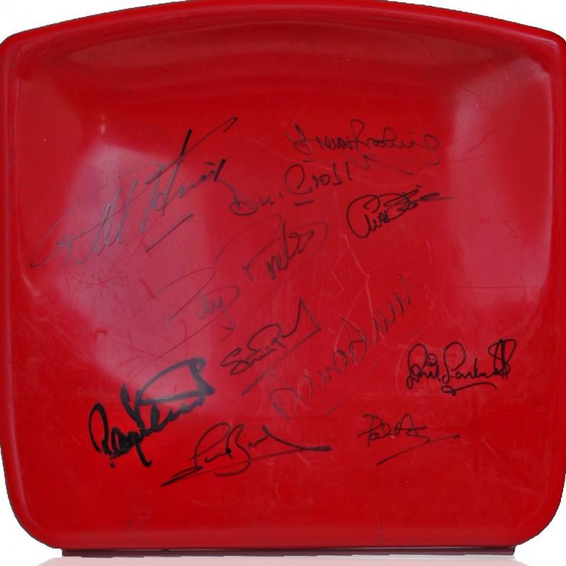 Boleyn Ground Stadium Seat Hand Signed by West Ham United Legends