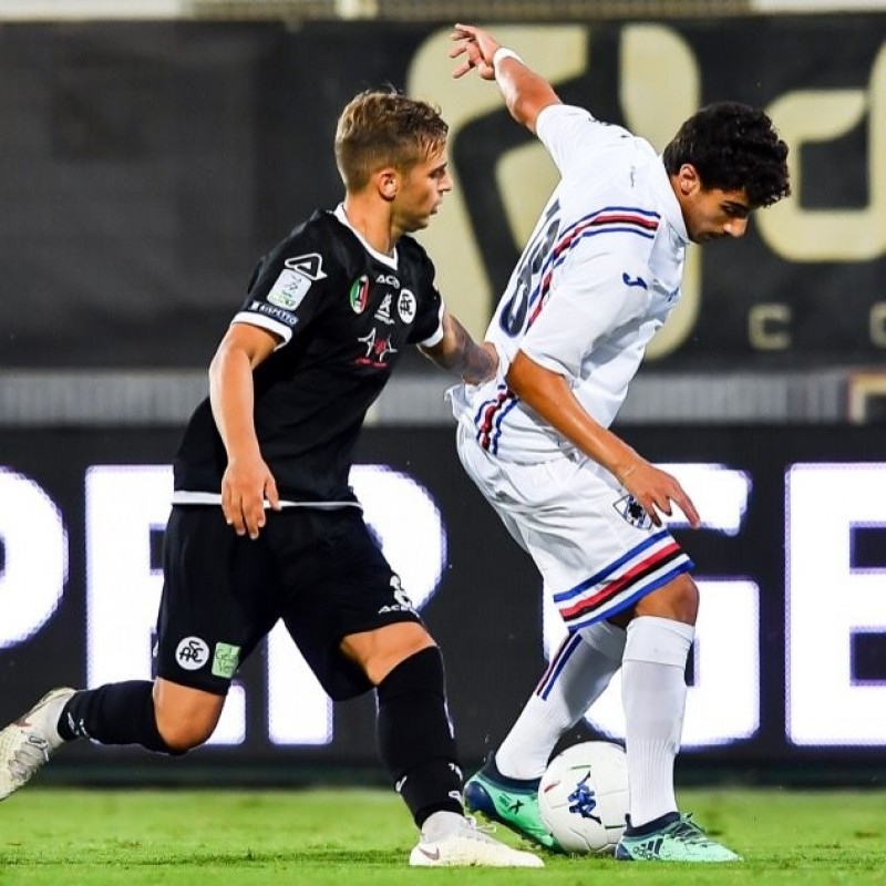 Ejjaki's Worn Shirt Bearing Special Genoa Patch, Spezia-Sampdoria