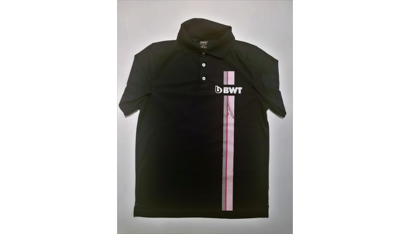 Force India Official Polo Shirt - Signed by Ocon