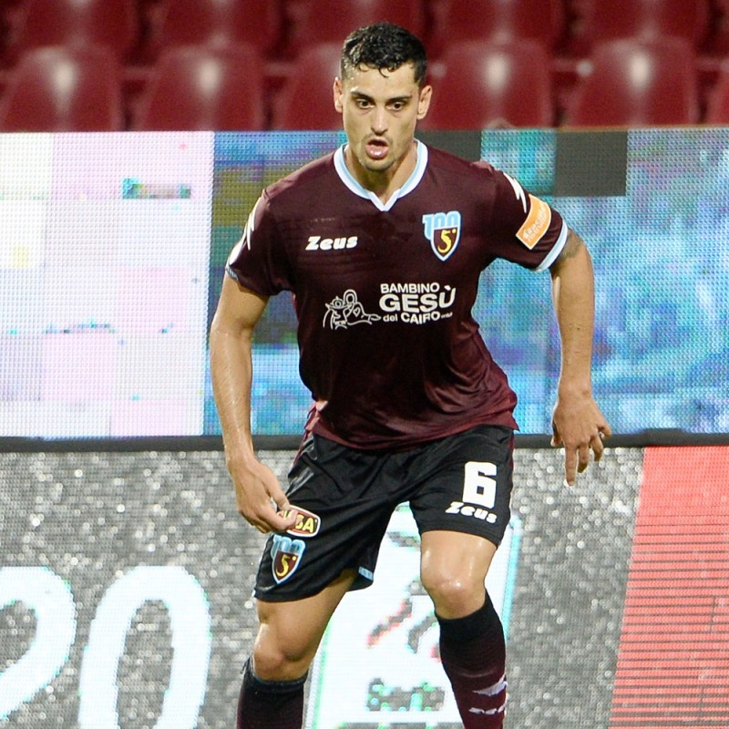 Curcio's Worn Shirt, Salernitana-Spezia 2020