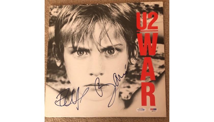 U2's Bono and Adam Clayton Signed Record Album